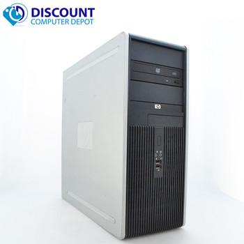 HP DC Desktop PC Computer Tower Windows 10 Intel 1.8GHz 4GB 1TB