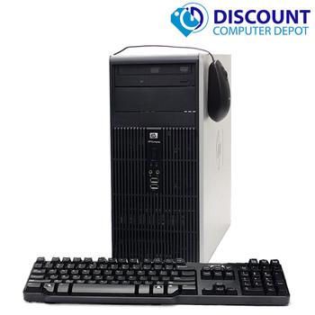 HP DC Desktop PC Computer Tower Windows 10 Intel 1.8GHz 4GB 500GB