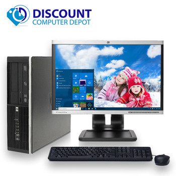 "HP 8000 Desktop Computer PC Intel C2D 3.0GHz 8GB 250GB 19"" LCD Windows 10 Home"