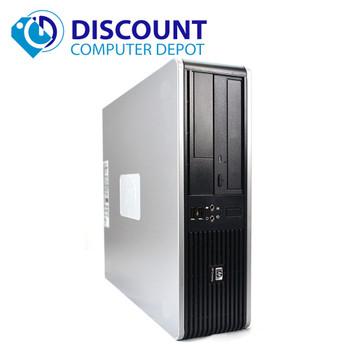 Fast HP Desktop Computer PC Dual Core 4GB 500GB DVD-RW Windows 10