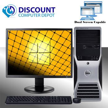 """Dell Precision T3400 Windows 10 Pro Workstation Core 2 Duo 2.3 8GB 500GB 19"""" LCD"""