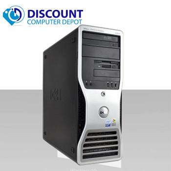 Dell Precision 490 Windows 10 Pro Desktop Computer Xeon 8gb 500gb Dual Video Out