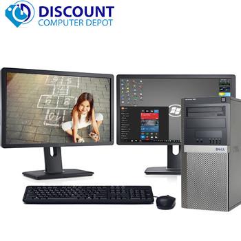 "Dell Optiplex 960 Desktop Computer Windows 10 3.0GHz 4GB 500GB Dual 19"" LCD'S"