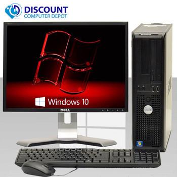 "Dell Optiplex Windows 10 Pro Desktop Computer C2D 3.0GHz 8gb 500GB w/19"" LCD and HDMI Video Card"