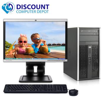 "Fast HP 6005 Pro Tower Computer PC 3.0GHz 8GB 500GB Windows 10 Pro w/19"" LCD"