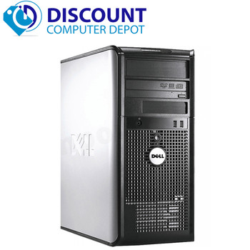 Fast Dell Optiplex Desktop Computer PC Windows 10 Tower Core 2 Duo 4GB Wifi