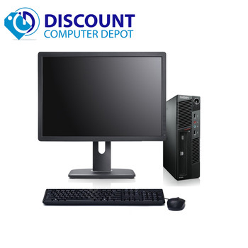 "Lenovo M91P USFF Desktop Computer Intel i5 PC 2.5GHz 4GB 250GB Win10 Pro 19"" LCD"