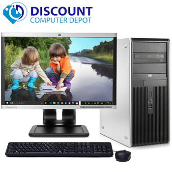 "Fast HP Windows 10 Desktop Computer Intel Dual Core PC  4GB  DVD 17"" LCD wifi"