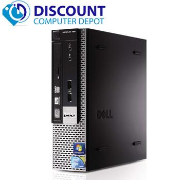"""Dell 780 Thin Small Desktop Computer PC C2D 3.0GHz 4GB 160GB Win10 Pro w/19"""" LCD"""