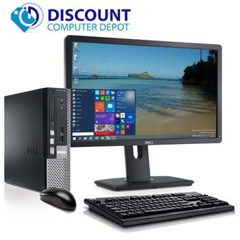 """Dell 780 Thin Small Desktop Computer PC C2D 3.0GHz 4GB 250GB Win10 Pro w/19"""" LCD"""