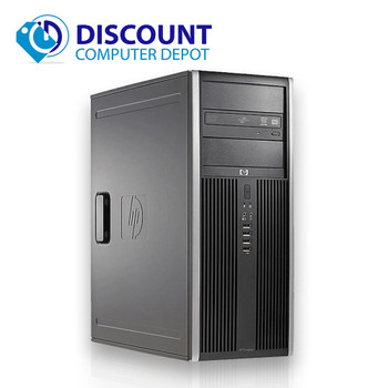 HP 8000 Elite Desktop Computer PC Tower Intel C2D 3.0GHz 8GB 500GB Windows 10 Pro