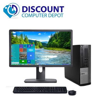 """Dell Optiplex 990 Windows 10 Pro Desktop PC Quad i5 3.1GHz 8GB 500GB 20"""" LCD"""