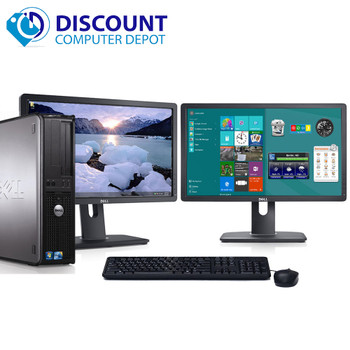"Dell Optiplex 780 Windows 10 Pro Desktop Computer 3.0GHz 8GB 250GB Dual 19"" LCDs"