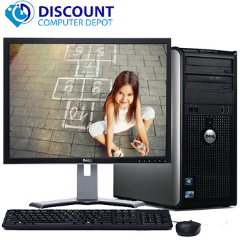 "Dell Optiplex 780 Windows 10 Pro Tower Computer PC 3.0GHz 8GB 500GB w/19"" LCD"
