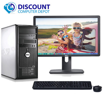"Dell Optiplex 780 Windows 10 Pro Tower Computer PC 3.0GHz 8GB 1TB w/22"" LCD"