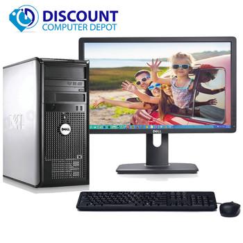 "Dell Optiplex 780 Windows 10 Tower Computer PC Intel 2.93GHz 8GB 500GB w/22"" LCD"