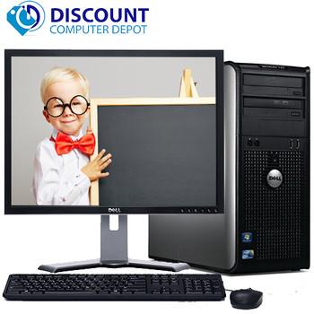"Dell Optiplex 780 Windows 10 Tower Computer PC Intel 2.93GHz 8GB 250GB w/22"" LCD"