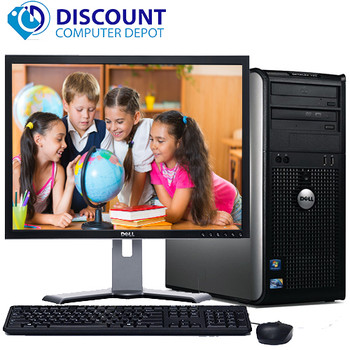 "Dell Optiplex 780 Windows 10 Tower Computer PC 2.93GHz 4GB 500GB w/17"" LCD Wifi"