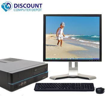 "Custom Windows 10 Desktop PC Computer Intel i3 3.1GHz 4GB 160GB Wifi 19"" LCD"
