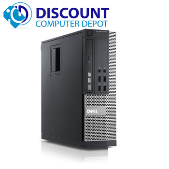 "Dell Optiplex 980 Windows 10 Pro Desktop PC Quad i5 8GB 500GB w/dual 22"" LCD's"