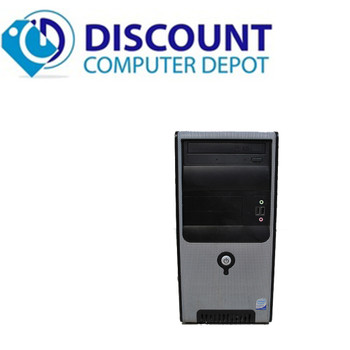"Fast Desktop Computer PC Windows 10 Core 2 Duo Tower 2.93GHz 4GB 160GB 17"" LCD"