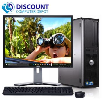 """Fast Dell Optiplex Windows 10 Desktop PC Computer C2D 8GB 2TB HDD WiFi 19"""" LCD"""
