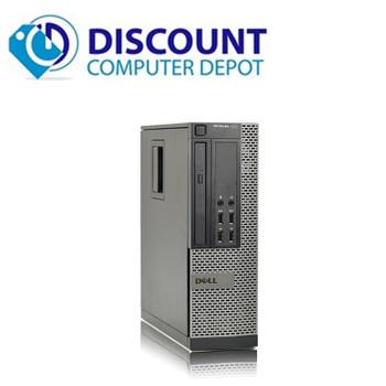 """Dell Optiplex 3010 Windows 10 Pro Desktop Computer PC i3 8GB 240GB SSD Dual 22"""" LCD Wifi"""
