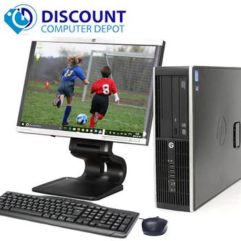 "HP Elite/Pro Windows 10 Desktop Computer PC i3 (2nd Gen) 8GB 250GB 19""LCD Wifi"