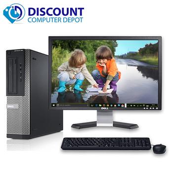 """Dell Optiplex Windows 10 Desktop Computer PC i5 (2nd Gen) 4GB 250GB 19"""" LCD Wifi"""
