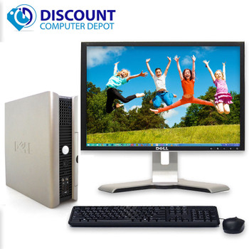 "FAST Dell Windows 10 Desktop Computer Core 2 Duo 4GB Ram DVD WiFi 19"" LCD"