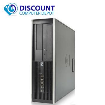 "HP Elite Windows 10 Desktop PC Computer C2D 3.0GHz 4GB 250GB 19"" LCD Wifi"