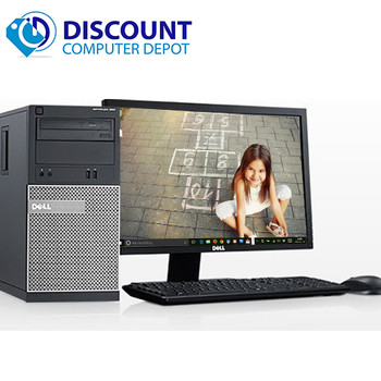 "Dell Optiplex Windows 10 Desktop Computer Tower Core i3 3.3GHz 8GB 1TB w/22"" LCD and  Dedicated Graphics"