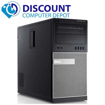 Dell Optiplex Windows 10 Desktop Computer Tower Quad Core i5 HDMI 4GB 250GB