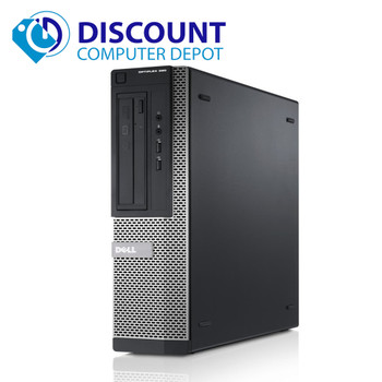 "Dell Optiplex Windows 10 Pro Desktop Computer PC i5 3.1GHz 8GB 500GB 19"" LCD Wifi"