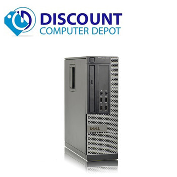 "Dell Optiplex 3010 Windows 10 Pro Desktop Computer PC Quad Core i5 8GB 320GB Dual 19"" LCD Wifi"