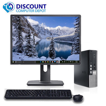 "Fast Dell Optiplex 790 Windows 10 Desktop Computer Core i3 4GB 19"" LCD WiFi DVD"