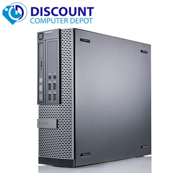 Dell Optiplex  Windows 10 Pro Desktop Computer SFF Quad Core i5 3.3GHz 8GB 500GB