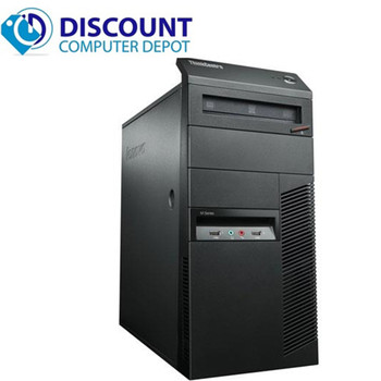 Fast Lenovo Windows 10 Desktop Computer Core i5 Tower 3.2GHz PC 4GB 320GB Wifi