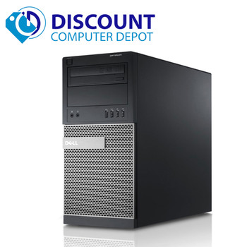 "Dell Optiplex 790 Desktop Computer Tower Quad i5 8GB 500GB Windows 10 Pro w/19"" LCD"