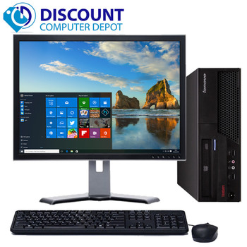 "Fast Windows 10 Desktop Computer Lenovo PC Dual Core CPU 4GB 160GB 17"" LCD Wifi"