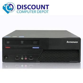 "Fast Windows 10 Desktop Computer Lenovo PC Dual Core CPU 4GB 160GB 17"" LCD Wifi"