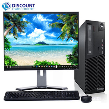 "Fast Lenovo Core i5 Desktop Computer Windows 10 PC 3.1GHz 8GB 500GB 19"" LCD Wifi"