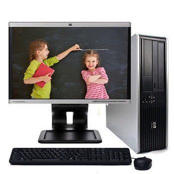"Fast HP Desktop Computer Windows 10 Pro Core 2 Duo 4GB 250GB DVD-RW 17""LCD"