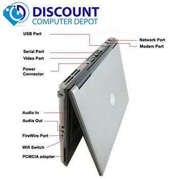 DELL LAPTOP LATiTUDE WINDOWS 10 DUAL CORE 4GB RAM WIN DVD WIFI PC HD COMPUTER
