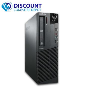 Lenovo M82 Windows 10 Pro Desktop Computer PC Intel Quad Core i5 3.1GHz 8GB 500GB Dual Out Video