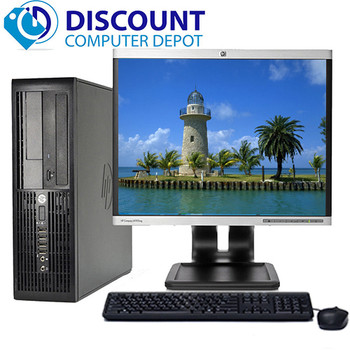 "HP Desktop Computer PC Core 2 Duo 2.6GHz 4GB 160GB DVD WiFi 22"" LCD Windows 10"