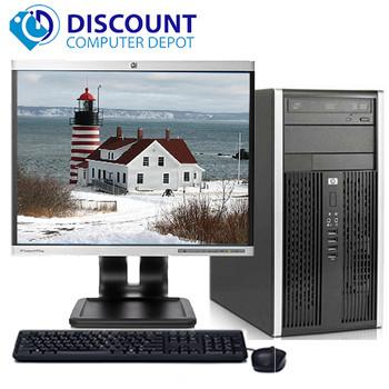 "HP Pro Desktop Computer Tower PC 2.8GHz 4GB 500GB 19""LCD Windows 10 Wifi DVD-RW"