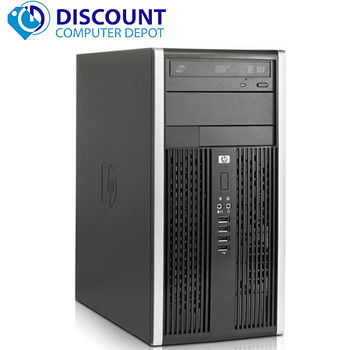 Fast HP Windows 10 Desktop Computer PC Tower Core i3 3.1GHz 8GB RAM 160GB Wifi