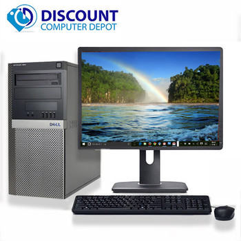 "Dell 960 Desktop Computer Tower C2D 3.0 8GB 500GB 19""LCD Windows 10 Wifi DVD-RW"