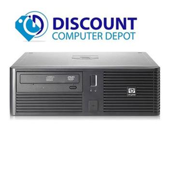 "HP RP5700 Desktop Computer Core 2 Duo 2.6GHz 4GB 160GB DVD WiFi 17"" LCD Windows 10"